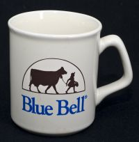 Blue Bell Ice Cream Logo Coffee Mug Vintage