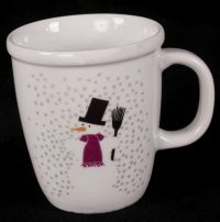 Bodum French Snowman Christmas Winter Holiday Coffee Mug 12oz