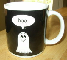 Boo! Ghost Halloween Coffee Mug