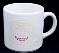 Alice in Wonderland Cheshire Cat Rivertown Trading Corp Coffee Mug Beige