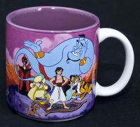 Disney Aladdin Movie Coffee Mug Vintage Japan