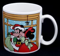 Disney Applause Mickey Minnie Mouse Christmas Mistletoe Kiss Coffee Mug