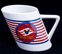 Disney Cruise Lines Ship Inaugural 1998 Launch Smokestack Coffee Mug