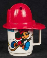 Disney Mickey Mouse & Friends Fireman Hat Child's Drinking Goblet Cup