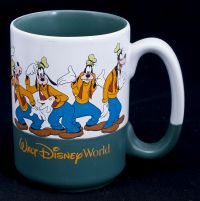 Disney Goofy Many Faces of Walt Disney World Coffee Mug