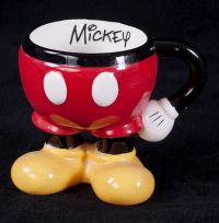 Disney Mickey Mouse Signature Pants 3D Sculpted Coffee Mug