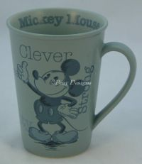 Disney MICKEY MOUSE Clever Strong Stoneware Gray Coffee Mug