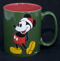 Disney Mickey Mouse Santa Christmas Oversize Coffee Mug