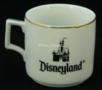 Disney DISNEYLAND Japan Gold Rim Coffee Mug