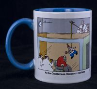 Far Side - AT THE CRABBINESS RESEARCH INSTITUTE Coffee Mug