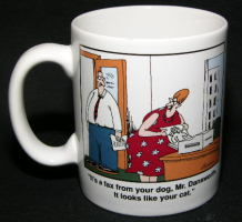 Far Side - Fax from your Dog Coffee Mug 1990