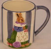 Haldon Group BEATRIX POTTER Rabbit Coffee Mug 1992
