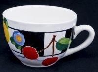 Mary Engelbreit CHERRIES Gaetano Pottery Cappuccino Latte Coffee Mug Cup