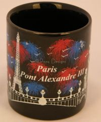 le chat noir boutique paris france pont alexandre iii bridge coffee mug misc coffee mugs. Black Bedroom Furniture Sets. Home Design Ideas