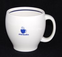 Starbucks Barista Abbey Blue & White Coffee Mug
