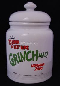 Grinch Who Stole Christmas Dr Seuss GRINCHMAS Cookie Jar Movie Promo