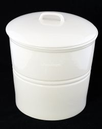 "CRABTREE & EVELYN 8"" Ivory Canister Cookie Treat Jar"