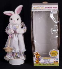 Telco Motionette Mrs. Peter Cotton Tail Animated Musical Motionette w/ Box