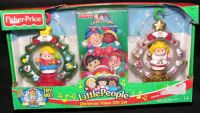 Fisher Price Little People CHRISTMAS Movie + ORNAMENTS Gift Set