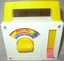 "#794 ""Over The Rainbow"" Tote-A-Tune Music Box Radio (1981)"