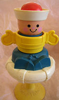 #415 Squeak and Peek Sailor Boy Rattle (1984)