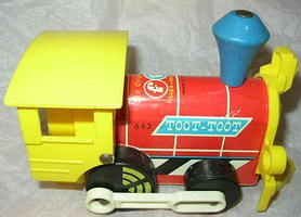 "#643 ""Toot-Toot Engine"" Pull Toy (1964)"