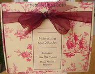 Moisturizing Soap 2 Bar Set w/Extracts of Goat Milk (Protein) Honey Almond