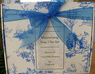 Moisturizing Soap 2 Bar Set w/Extracts of Goat Milk (Protein) Spa Fragrance