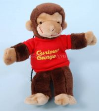 Gund CURIOUS GEORGE PUPPET Stuffed Plush Doll - Vintage
