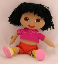 Gund DORA THE EXPLORER Yarn Hair Plush 2001