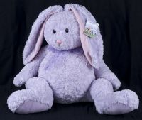 "Gund Heads N Tales 20"" Lavender Purple Easter Bunny Rabbit Large Plush 4159"