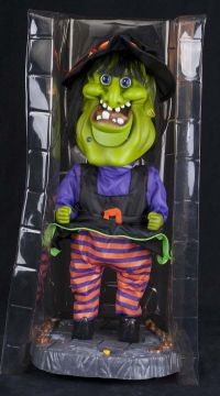 Gemmy Big Head Witch I WANT CANDY Dancing Halloween Display