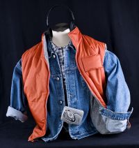 Back to the Future MARTY MCFLY Halloween Costume Vest Shirt Jacket + Extras
