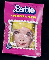 Ben Cooper BARBIE Halloween Costume & Mask Child Size 12 14 Vintage 1985