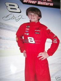 Dale Earnhardt Jr. Driver Uniform Costume Boys Medium 7-8 NEW