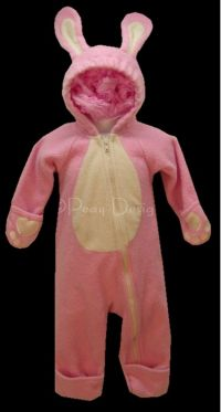 Land's End PINK RABBIT COSTUME Sleeper Sz 6M EASTER