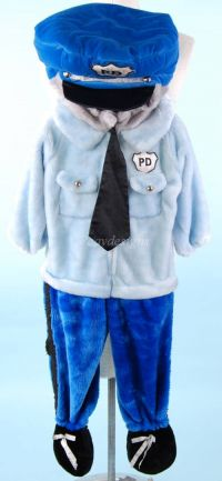 POLICE OFFICER Plush Blue Costume Todder Sz 2 - 4