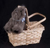 Rubie's Wizard of Oz Dorothy's Dog Toto Plush in a Basket Costume Accessory