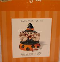 Dept 56 GOOGLE EYE WITCH SERVING BOWL SET