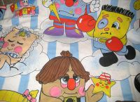 Pillow People Twin Size Bedding Flat Sheet Vintage 86