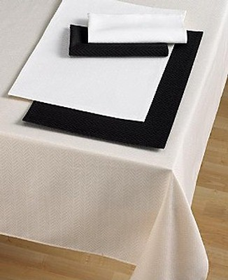 "Ralph Lauren ""Basketweave"" Reed 60 x 84 Oval Tablecloth"