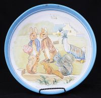 Beatrix Potter Peter Rabbit METAL SERVING TRAY Vintage