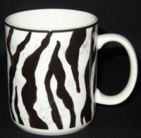 Mikasa SAFARI ZEBRA Laurie Gates Coffee Mug