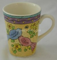 Sango BIRDS and the BEES Sue Zipkin Blue Red Bird Mug