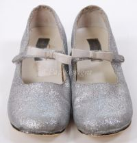 Nordstroms SILVER GLITTER Mary Jane Shoes Girls 12.5