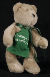 Starbucks Bearista 1997 1st Edition Original Teddy Bear Green Apron Plush