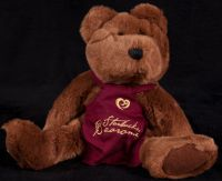 Starbucks Bearista 1998 2nd Edition Burgundy Apron Teddy Bear Plush