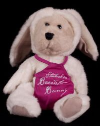 Starbucks Bearista 1998 3rd Edition Bunny Bear Pink Apron Plush