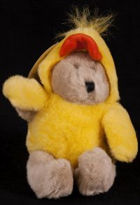 Starbucks Bearista 1999 6th Edition Yellow Duck Chick Bear Plush