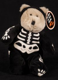 Starbucks Bearista 1999 7th Edition Halloween Skeleton Bear